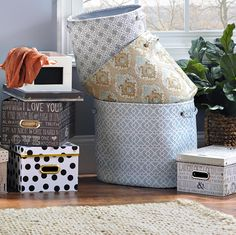 Don't just store things away, organize with stylish storage options from Kirkland's!