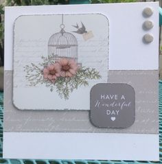 Card created by Jo Street for Craftwork Cards using Birds and Blooms collection