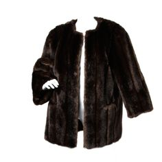 Vintage 1980's Lilli Ann Synthetic Fur Car Coat | From a collection of rare vintage coats and outerwear at http://www.1stdibs.com/fashion/clothing/coats-outerwear/