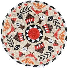 Africa | Telephone wire basket depicts village life showing birds, huts, trees and even shields. | Zulu basket, South Africa