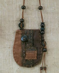 RESERVED for Newtonsfigs. Natural textile Talisman Pouch
