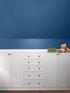 Resultado de imagen de blue sloped ceiling white walls
