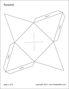 Free cube templates to print, cut out, and assemble into a three-dimensional paper cube. Cardboard Box Crafts, Paper Crafts Origami, Easy Paper Crafts, Printable Shapes, Templates Printable Free, Free Printables, Printable Origami Instructions, Origami Templates, Cube Template
