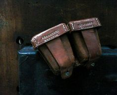 Vintage Brown Leather Bag. Military Leather by LongLiving on Etsy