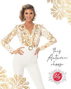 Salopeta disponibila pe www.bby.ro White Jeans, Jumpsuit, Beautiful Women, Autumn, Casual, Pants, Collection, Glow, Dresses