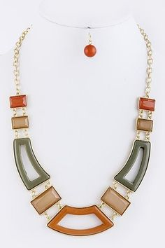 Cut Out Costume Necklace