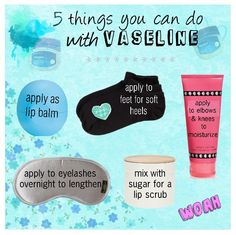 5 things that you can do with Vaseline!! #diy