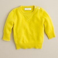 WOW Cashmere Baby sweater from J Crew. ( I would never spend this on a shirt for me let alone Knox.) Love the color.