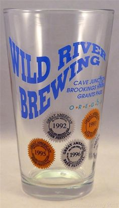 Wild River Brewing Oregon Pint Glass Pounder Grants Pass Cave Junction Brookings