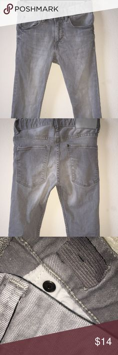 H&M faded gray Jeans Jeans are in very good condition. They have an adjustable elastic waistband. H&M Bottoms Jeans
