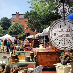 Local hotspot: Fort Greene Flea Market. Locals from all five boroughs in NYC flock to Fort Greene's Flea Market to snag one-of-a-kind vintage finds.