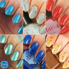 Let's Get Creative collection from DARIA nail paint available on the website.  I ship worldwide! Check the colors at dariasnails.com