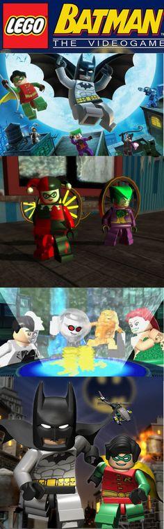 In LEGO Batman you get to play as Batman and Robin plus Gotham's' greatest villains. Lego Batman, Superhero, Gamer News, Greatest Villains, Some Games, Riddler, Skylanders, First Game, Catwoman