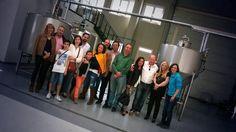 Hoy nos han visitado amigos y amigas de Madrid y Santander. Aranda de Duero une. ¡Un placer! #ExperimentaTesela www.cervezatesela.com