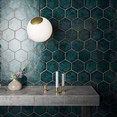 #newterracotta #tealtile #handmadetiles #interiordesign #glazedtiles Glazed Tiles, Ceramics Projects, Handmade Tiles, Wall Tiles, Terracotta, Craftsman, Wall Lights, Sweet Home, Bright