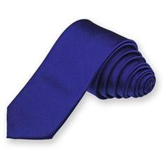 Royal Blue Skinny Solid Color Necktie