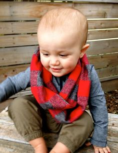 Minne Love Flannel Toddler Infinity Scarf by mplsmomma on Etsy