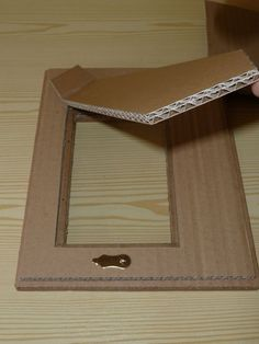 How to make frames out of cardboard.