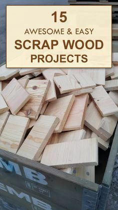 Wood Pallets Ideas 15 AWESOME and EASY Scrap Wood Projects - Don't throw wood scraps away! Put them to good use by building one of these fun and functional projects for your home. Old Wood Projects, Easy Woodworking Projects, Woodworking Plans, Easy Projects, Simple Wood Projects, Woodworking Furniture, Woodworking Basics, Beginner Woodworking Projects, Woodworking Shop