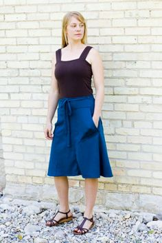Garden Pocket Wrap Skirt. Too nice for working in the garden, but perfect for a garden party.