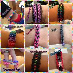 Awesome rainbow loom designs & tutorials! #rainbowloom #diy #crafts