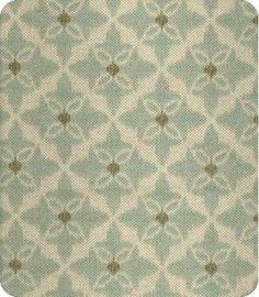 Eva - Small Scale Blue Ikat Fabric