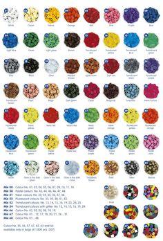 Colores y placas o pegboards Hama Beads