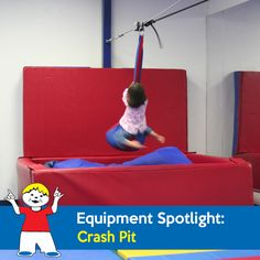 Kids love the Crash Pit. They get to fall in to a soft bed of pillows and foam… Sensory Equipment, Play Equipment, Autism Spectrum, Sensory Play, Special Needs, Pediatrics, Gymnastics, Gain, Clinic