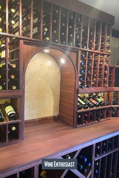 Wine Enthusiast has a great selection of custom cellars. We can design a cellar to fit your needs and enhance your collection! Wine Cellar Racks, Wine Rack, Cooling Unit, Wine Cellar Design, Wine Collection, Glass Boxes, Business Signs, Wine Storage, Can Design