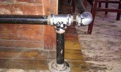 Gas Pipe For Basement Bar Foot Rest Inspiring Ideas