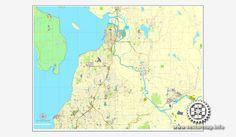 Vector Map StPetersburg Florida US Printable Vector Street City - Us map full names
