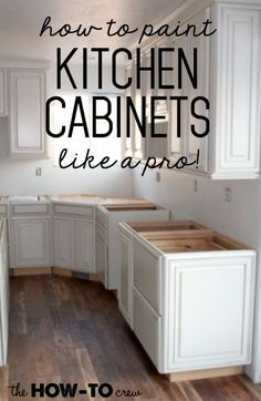 How To Paint Kitchen Cabinets Like A Pro!  10 AWESOME tutorials!