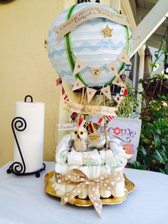 Diy Hot Air Balloon Diaper Cake #wanderlust