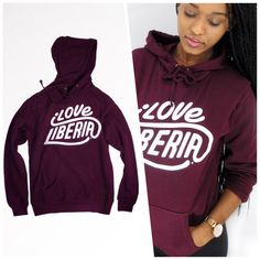 The authentic iLOVE LIBERIA Typography design printed on Ultra soft contemporary fit pullover hoody by Sons of Liberia. 50% of our profit here at Sons of Liberia is dedicated to helping Liberian youths. Available for preorder soon. #Liberia #ChildrenCountryService #CreateActivateInspire