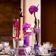 Wedding Reception - Centerpiece - Flowers - Purple
