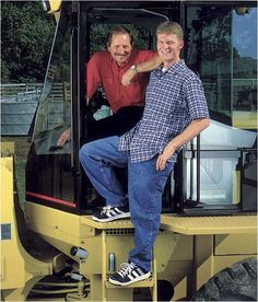 Dale Sr & Dale Jr hanging out at the farm.