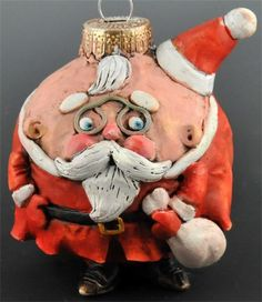 Doreen Kassel - 2012 Santa Ornament - vintage style Mr Claus Ornie by uncommoncreatures on Etsy,