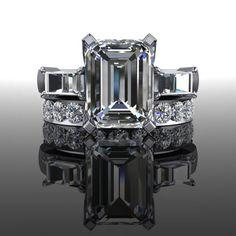 Forever Brilliant Moissanite Bridal Set 3.57 CTW – Bel Viaggio Designs, LLC