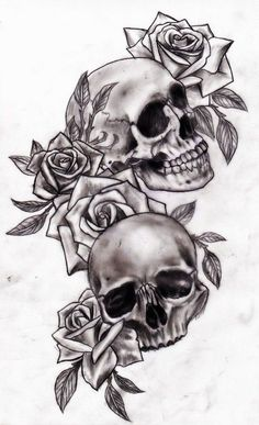 deviantART: More Like Alexabelle Rose script chest tattoo by ~Slabzzz Another thigh tattoo Skull Rose Tattoos, Leg Tattoos, Body Art Tattoos, Tattoo Drawings, Star Tattoos, Skull Tattoo Flowers, Tattoo Thigh, Maori Tattoos, 3 Roses Tattoo
