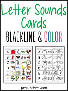 "These Letter Sounds A-Z Printables are made in both Color & Blackline, and are meant to be versatile. You could use these in numerous activities. A few ideas for using these: Print them on magnetic paper & cut them out for use on a magnetic board or cookie sheet. Print them & glue them onto die cut shapes or ""Accents"" from the teacher store. Use them to glue in ABC"
