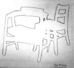 Space pinterest: Because there is no space between the chair and the table you have to kind of puzzle to get the picture right.