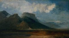Joseph Mallord William Turner (1775‑1851) - Grenoble Seen from the River Drac with Mont Blanc in the Distance, c1802 - Oil on canvas, 362 x 641 mm – Tate Britain, London