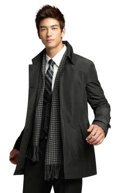 Dennis Oh #scarf Mens Fashion Casual Shoes, Mens Fashion Blazer, Mens Fashion Sweaters, Sexy Asian Men, Sexy Men, Pretty Men, Gorgeous Men, Beautiful, Moda Masculina