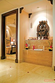 Modern Home Interior Design USA Style Ideas You'll Love it Indian Home Design, Temple Design For Home, Home Temple, Indian Home Decor, Temple Room, Indian Interior Design, Modern Home Interior Design, Mandir Design, Pooja Room Door Design