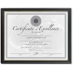841a40a731c DAX Burnes Black and Gold Certificate Frame