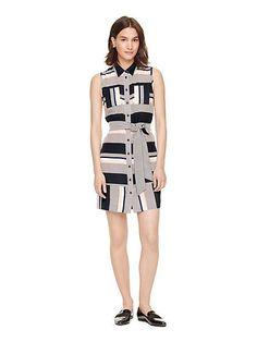 bay stripe sleeveless dress - Kate Spade New York