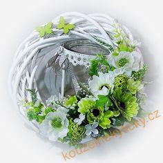 Věnec jarní - Zelená a bílá