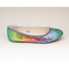 Sequin Rainbow Patterned Ballet Flats Slippers Casual Dress Shoes (53 AUD) ❤ liked on Polyvore featuring shoes, flats, jewelry, ballet shoes, black, slip ons, women's shoes, slip-on shoes, black sequin flats and black slip-on shoes