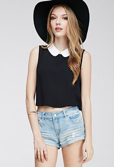 Peter Pan Collar Crop Top | Forever 21 - 2000116550  FOR CAMI OR LIVI
