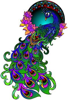 Peacock Tattoo by ~Metacharis on deviantART  pretty colours